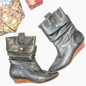 Frye Black Sam Double Shaft Boot Size 8M